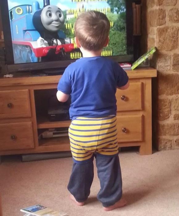 pyjamas over trousers look