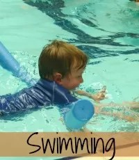Technical toddler swimming