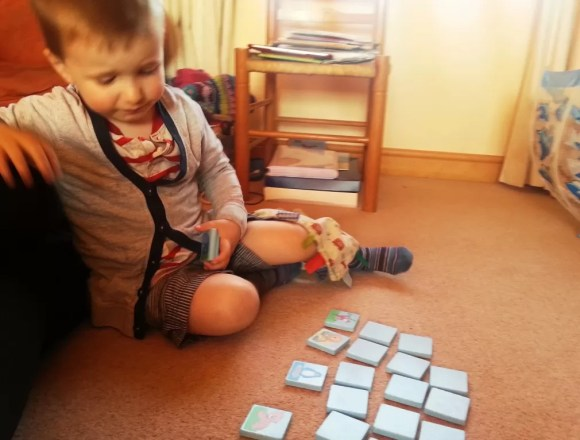 review matching pairs memory game by Haba