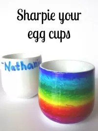 sharpie egg cups