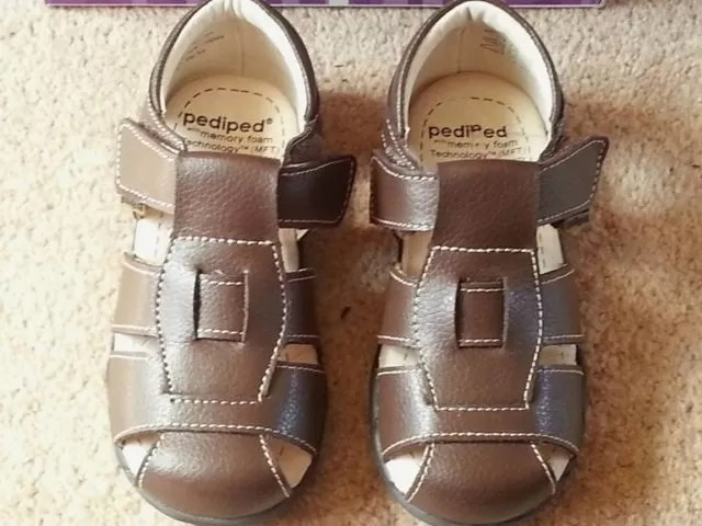 brown leather boys sandals