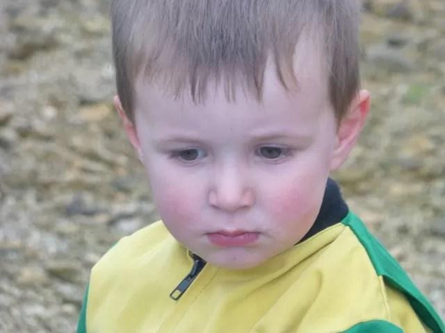 pensive toddler