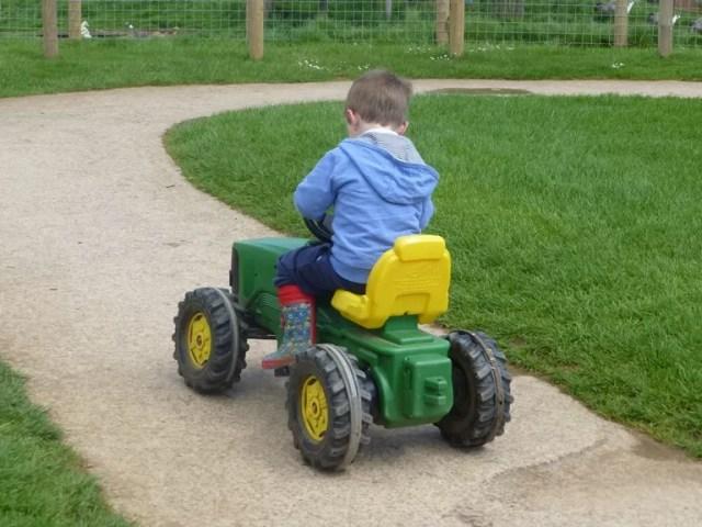 ride on John Deere tractor