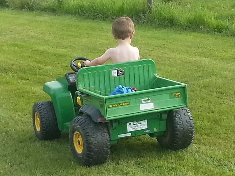 driving the gator naked