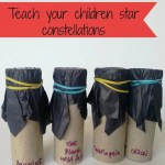 Teach children star constellations – star tubes
