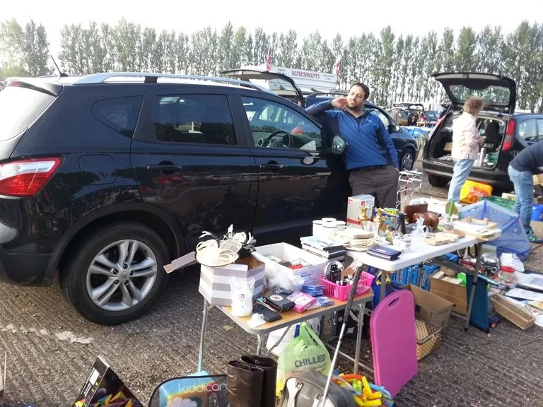 car boot sale selling