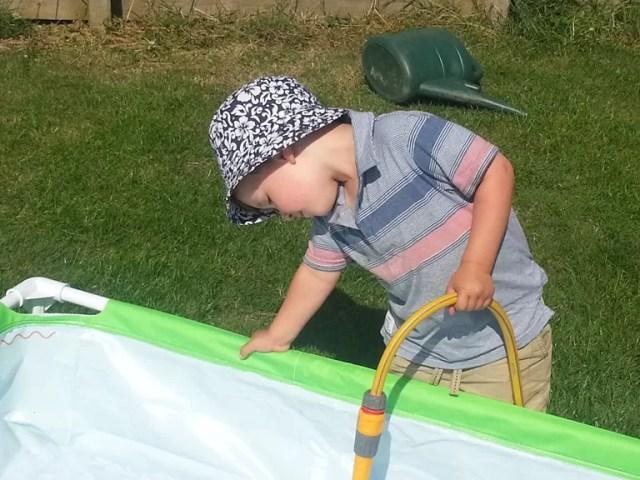 filling the paddling pool