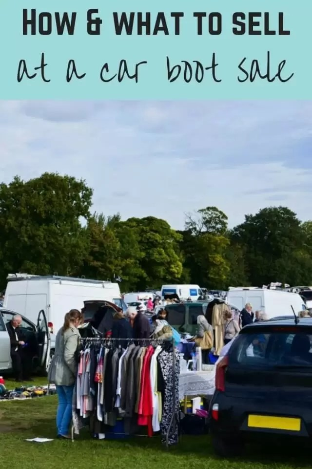 selling at a car boot sale