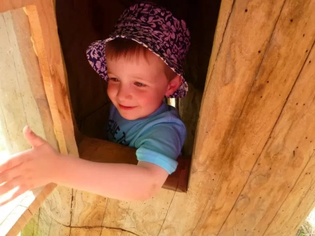 treefest - playing in a tree house