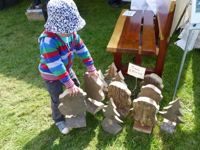 Carved trees at treefest