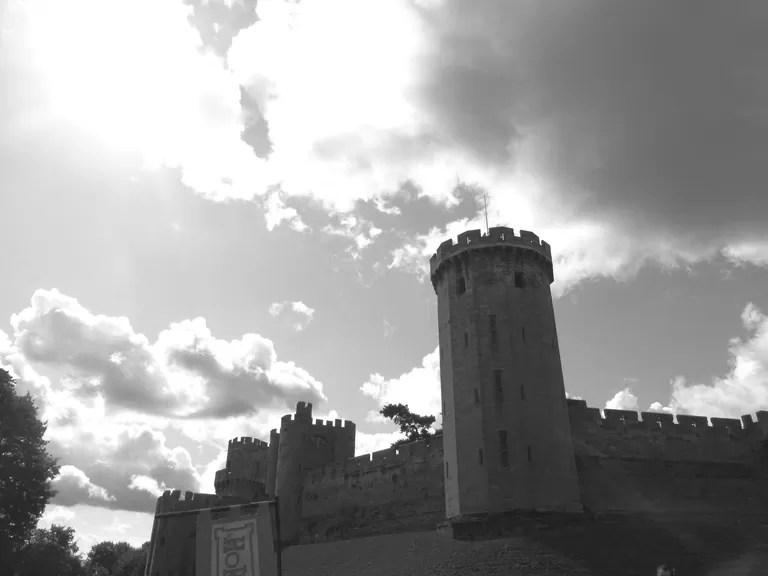 b&w warwick castle