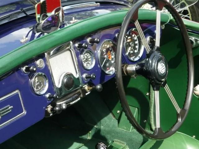 classic car dashboard