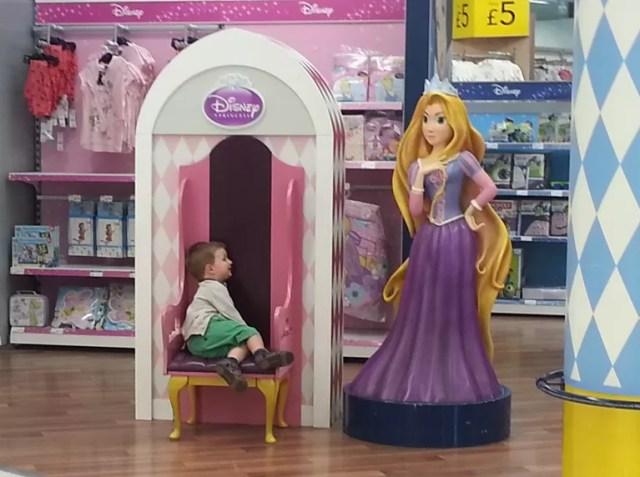 meeting a disney princess in Asda