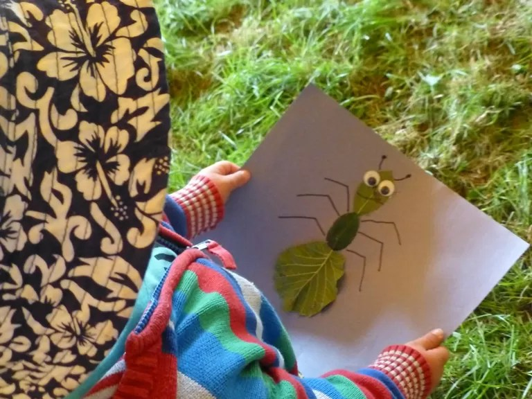 making a leaf insect