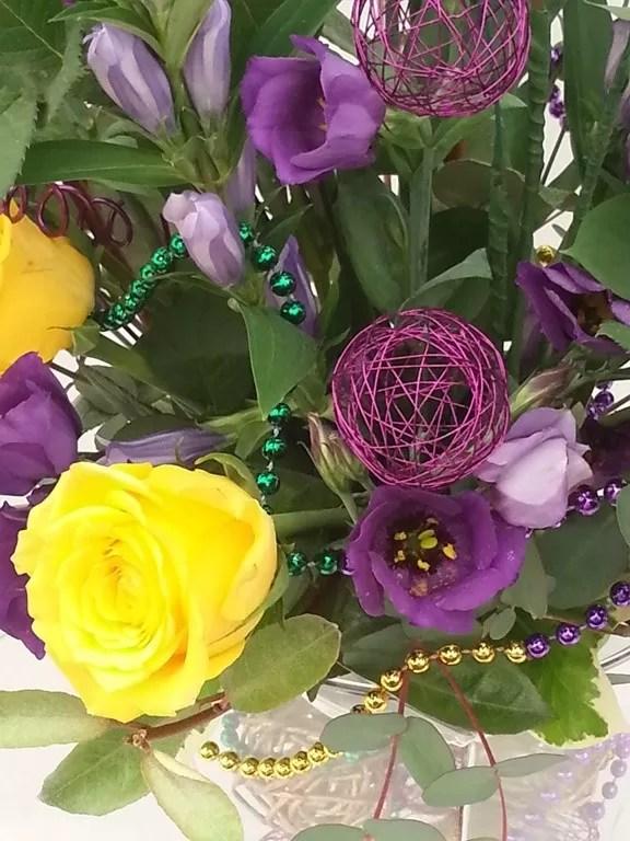 mardis gras flower theme