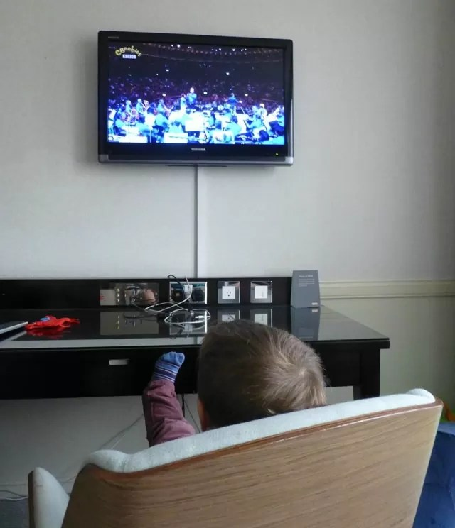 watching-the-cbeebies-prom on tv