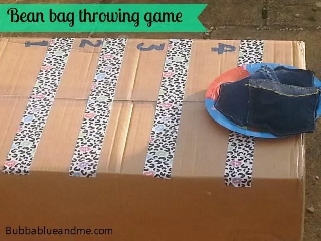 bean bag throwing game #newthings