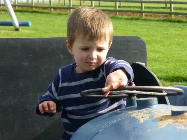 driving tristan the tractor