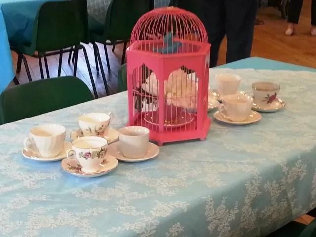 vintage tea decorations