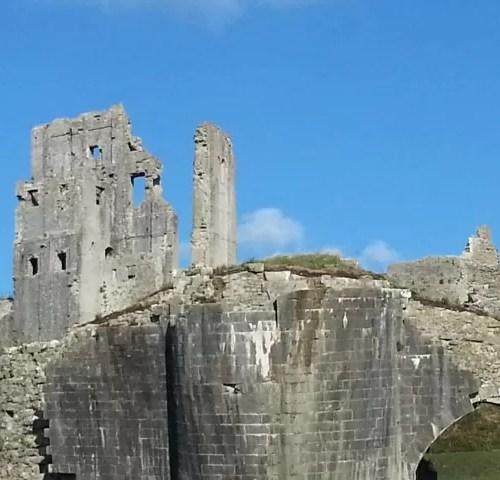 broken Corfe Castle c