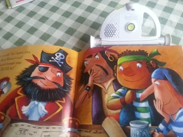 magical book reader clips onto book