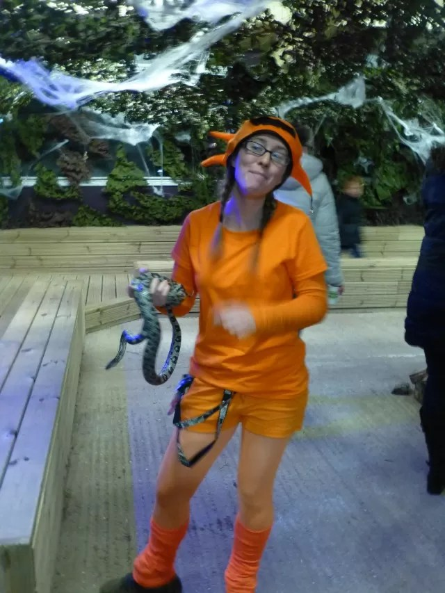 pumpkin lady with a snake at hatton