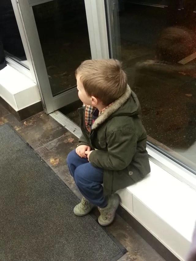 waiting at the fish and chip shop
