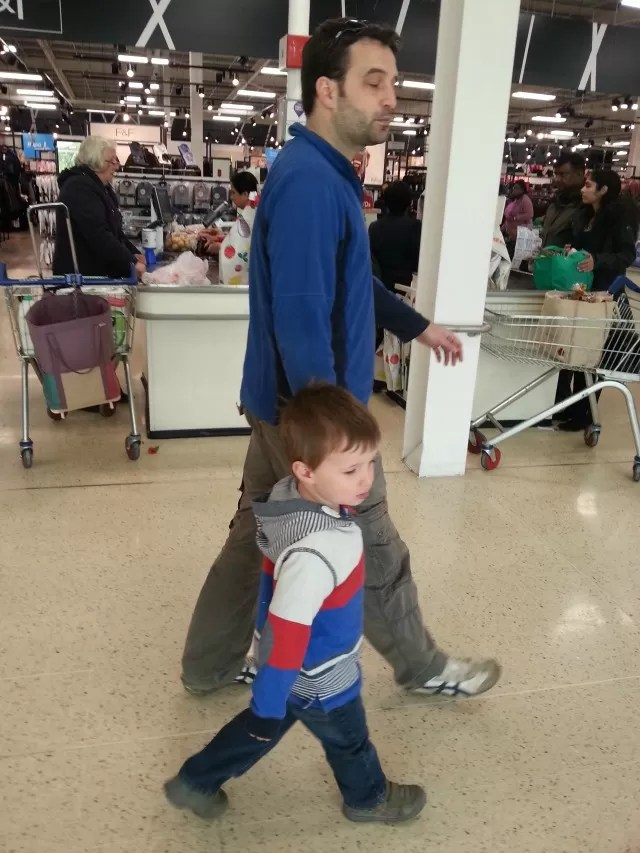 uncle and nephew shopping