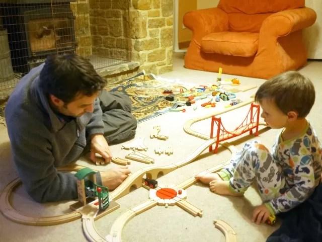 wooden railways uncle and nephew