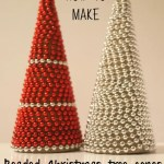 How to make beaded Christmas tree cones
