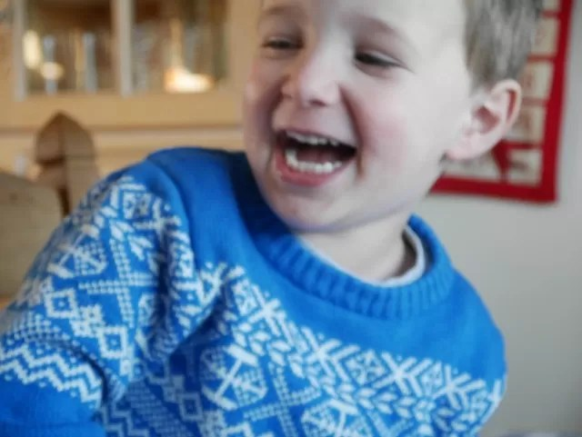 laughing child - fairisle jumper