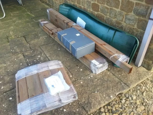 Dunster house climbing frame delivery
