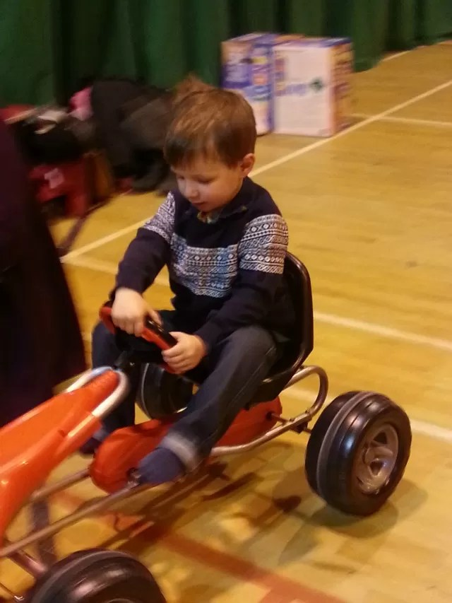 pedal go kart at soft play party
