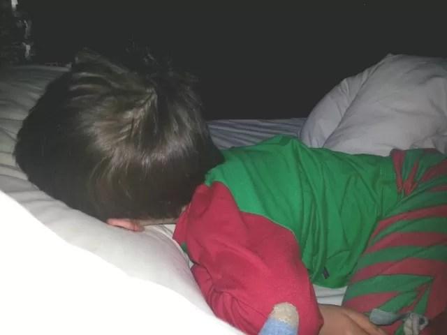 asleep hypochondriac boy
