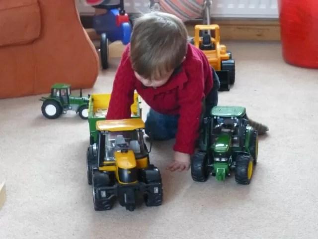 Bruder fastrac and john deere tractors