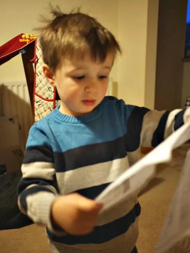 Looking at his map