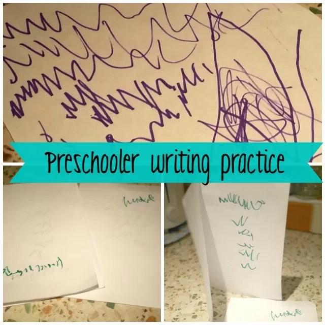 preschooler writing practice