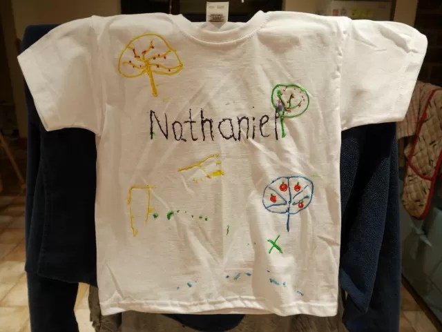 N's t shirt painting design
