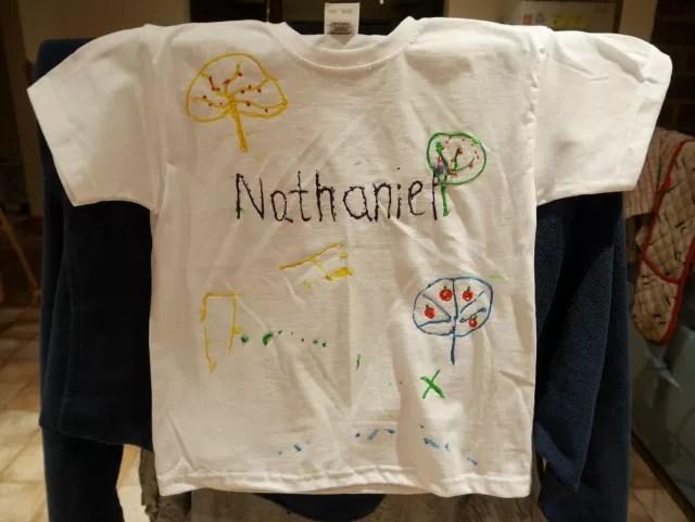 N's t shirt painting design