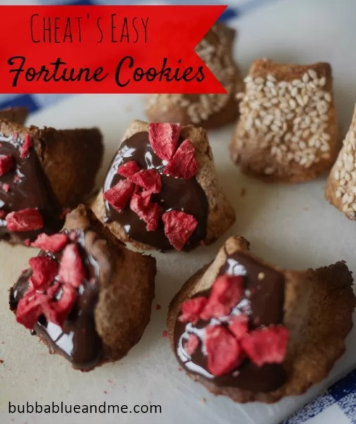 cheat's easy fortune cookies - perfect for chinese new year Bubbablue and me