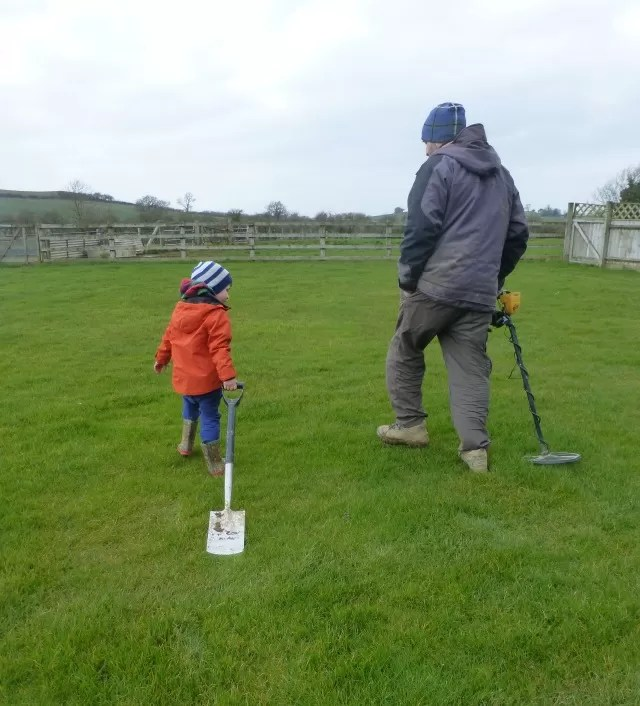 out metal detecting, like uncle like nephew