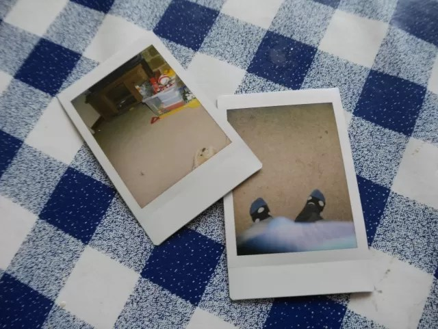 instax poloroid photos by the 4 year old