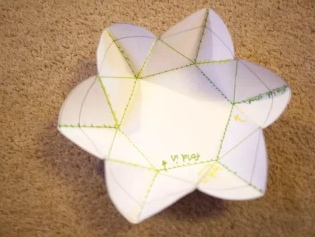 flower notelet template