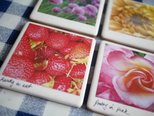 how to make photo tile coasters