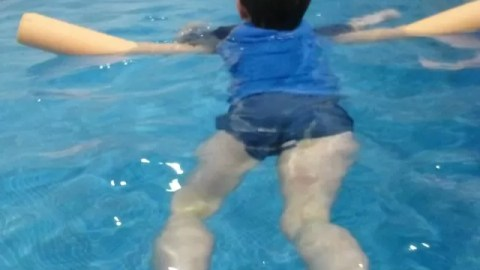A confidence boost through swimming alone