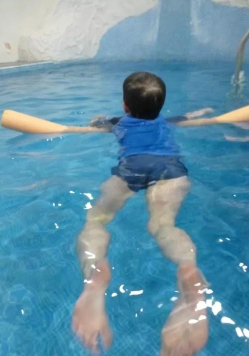 swimming indoor hotel pool