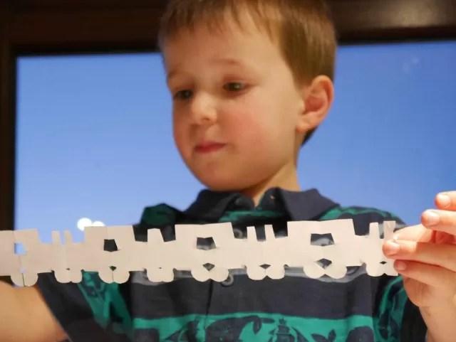 train papercuts