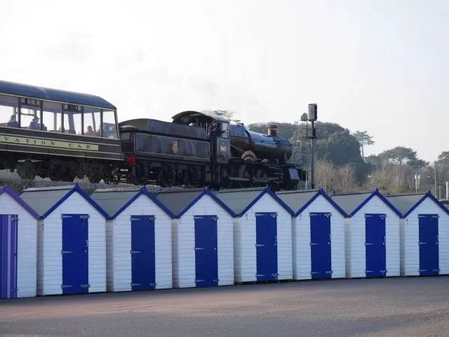 Paignton steam train at Goodrington