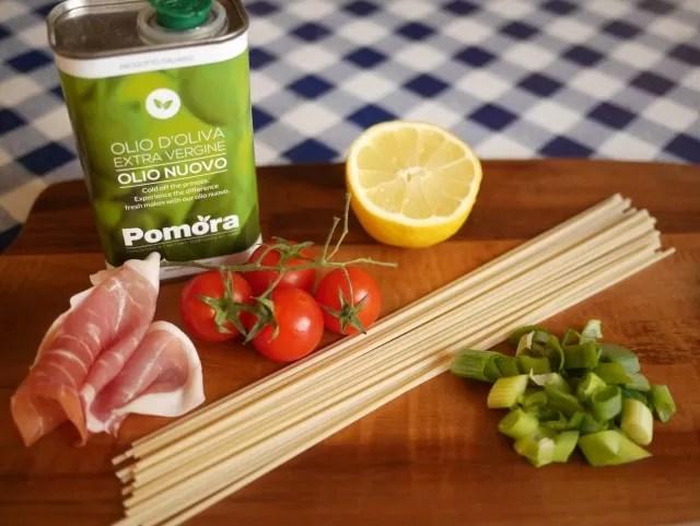 Pomora olive oil - spaghetti recipe