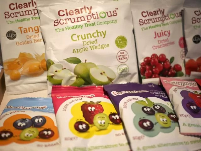 Scrumptious dried fruit range